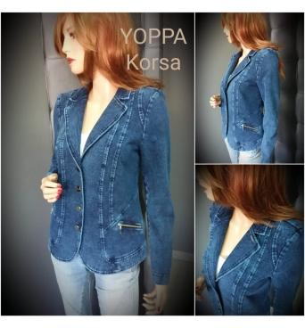 Korsa - dámské džínové sako s klopou