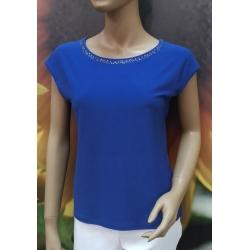Almax - dámské modré tričko s aplikací