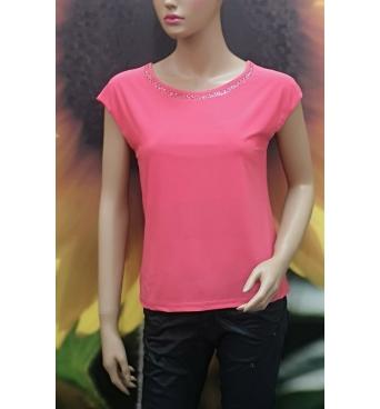 Almax - dámské lososové tričko s aplikací