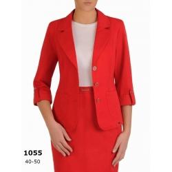 AST1055 - dámský červený bavlněný Safari kostým