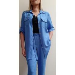 F001 - dámské letní modré kalhoty
