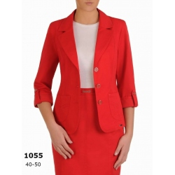 AST1055 - dámské červené bavlněné sako Safari