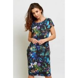 Dámské šaty modré květy