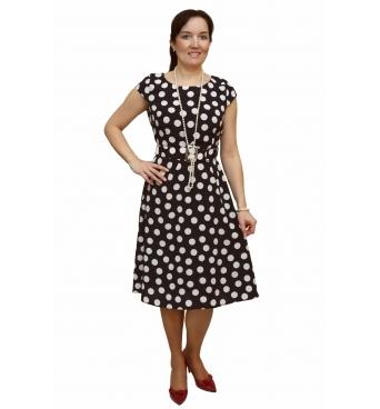 IWA - dámské šaty Pretty woman tmavomodré