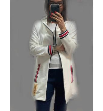 Lampas - dámský bavlněný kabátek bílý
