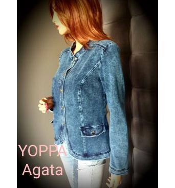 Agata - dámský džínový kabátek