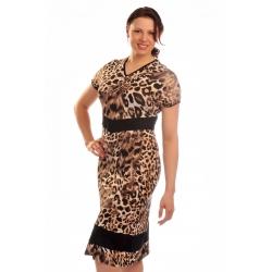 D3751 - dámské šaty s tygřím vzorem
