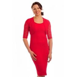 D3147   - krajkové dámské šaty s kabátkem