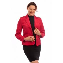 ST00379 - dámské sako manšestr červené